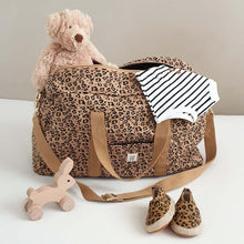 Load image into Gallery viewer, Quilted Mommy Bag - Leopard