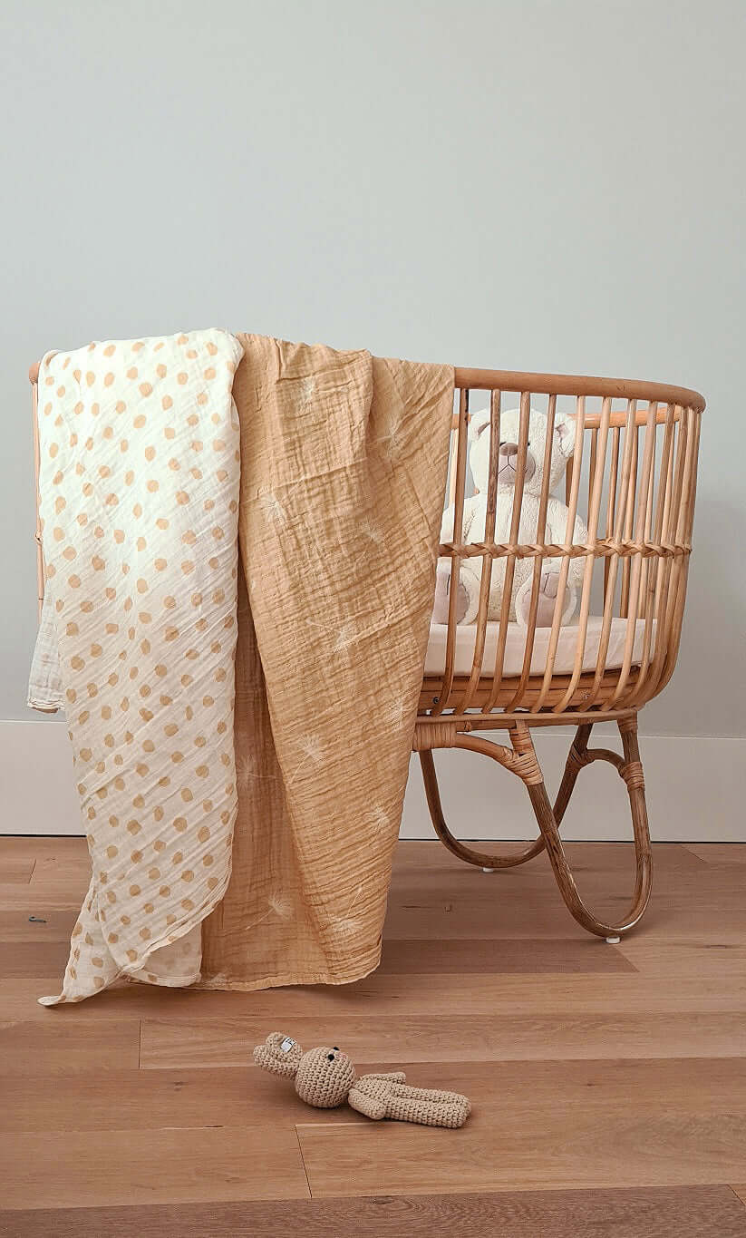 Muslin Swaddle XL - Set of 2 - Dots & Dandelion