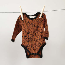 Load image into Gallery viewer, Baby Bodysuit - Long sleeves - Brick Cheetah