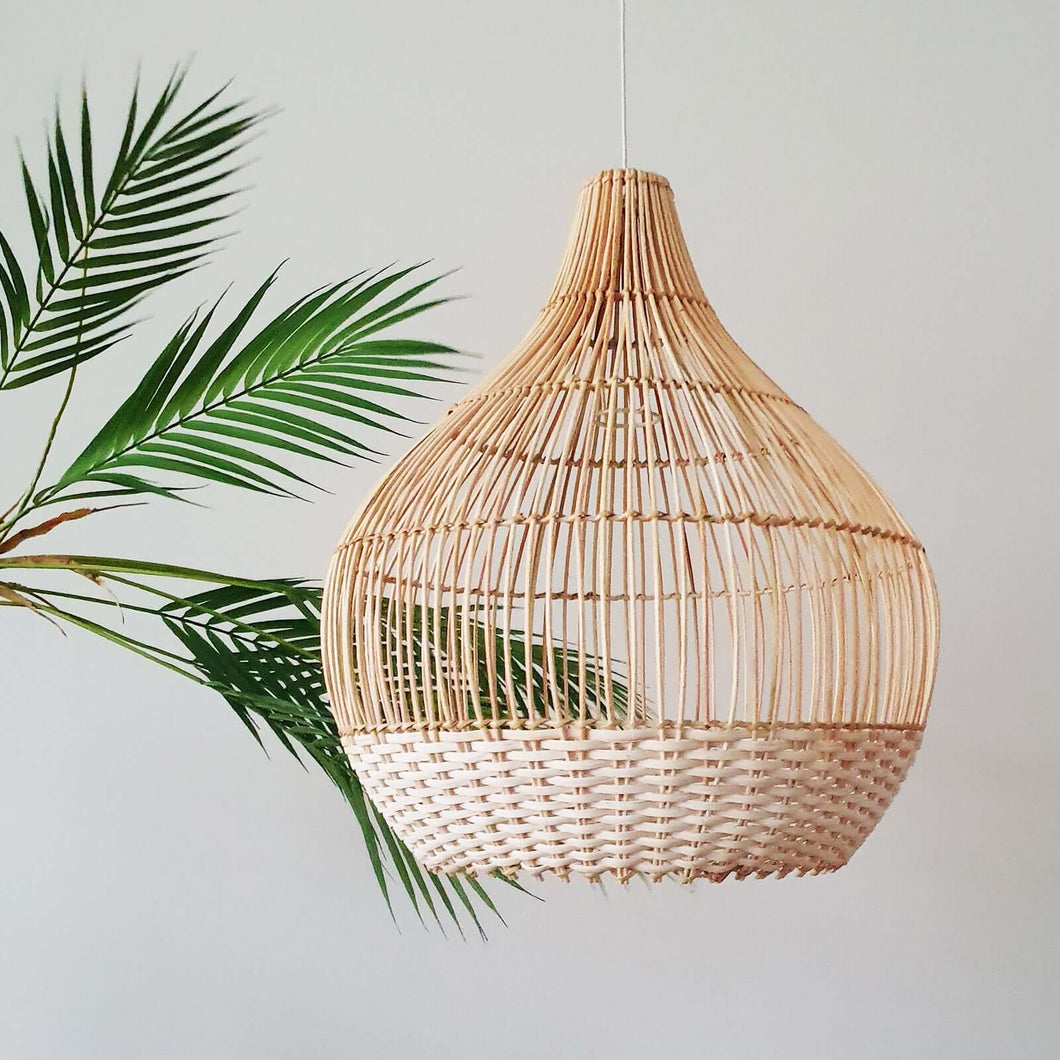 Lampshade XL - Rattan - White Detail
