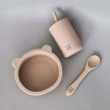 Afbeelding in Gallery-weergave laden, Silicone Bear Bowl & Spoon - Taupe