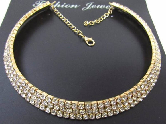 AD American Diamond Choker For Women And Girls