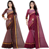 Women's Multicoloured Cotton Silk Saree