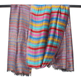 Super Fine Soft Women's Viscose & Mudal Reversible Pashmina Scarf, Stole & Wrap with Hanger (Grey-Multi Color)