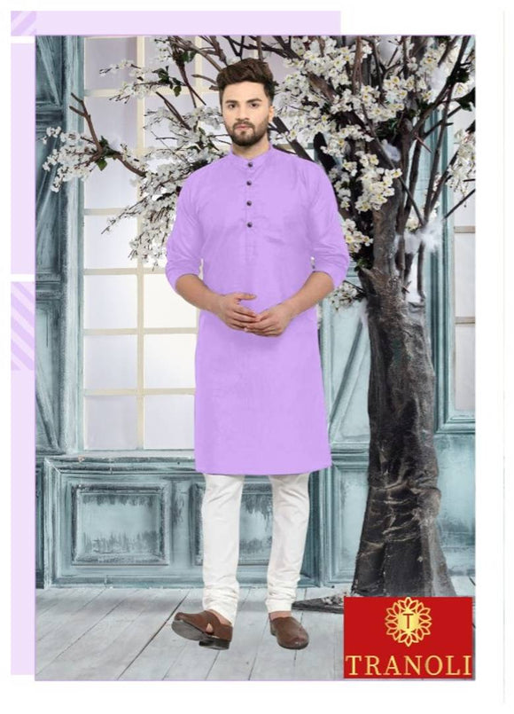 Men's Knee Length Cotton Kurta