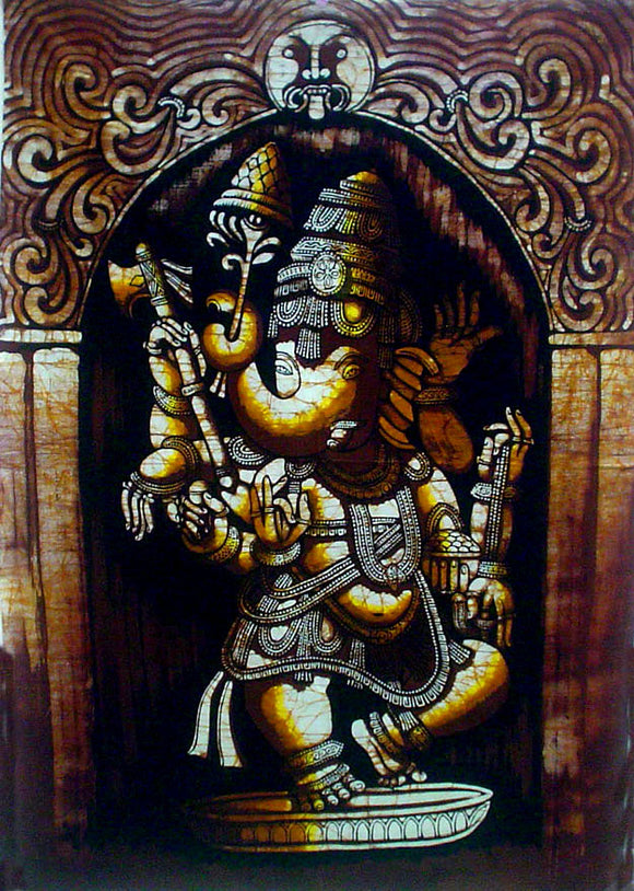 Crafts of India : Batik Painting Lord Ganesha