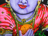 "Crafts of India Ladoo Gopal Cotton Sequin Sitara Batik Wall Hanging Tapestry : Size 43""x30"" Inches"