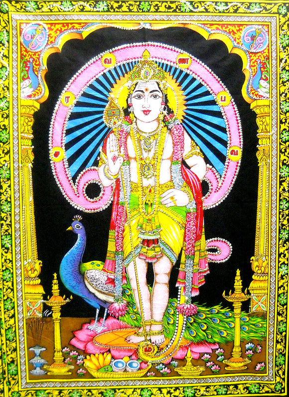 Crafts of India Kartikeya Sequins Sitara Cotton Wall Hanging Tapestry : Size 43