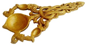 Crafts of India Handheld one Wick Diya / Lamp