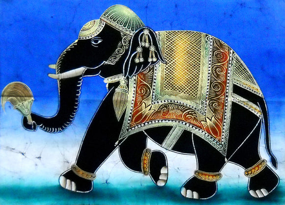 Crafts of India : Batik Painting Royal Elephant