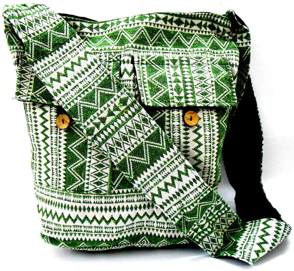 Crafts of India Multi Color Cotton Woven Handmade Crossbody Boho Hippie Women Shoulder sling Bag