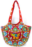 Crafts of India Handcrafted Ethnic Embroidered Rajasthani Boho Elephant Shoulder Bag For Women