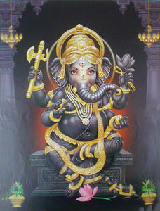 Divine ganesha poster-reprint on paper-(20x16 inches)