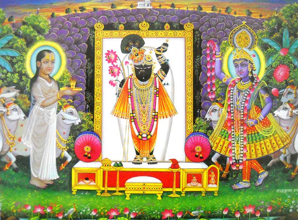 Lord Shrinath poster-reprint on paper-(20x16 inches)
