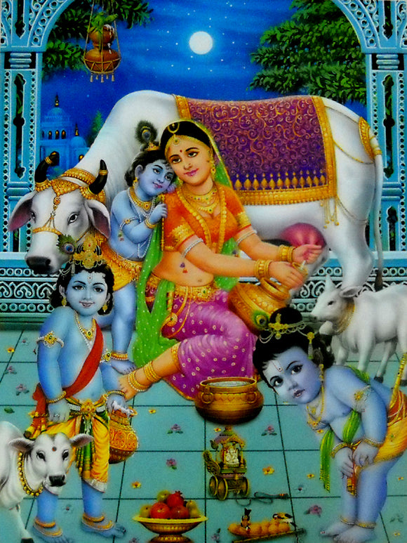 Bal krishna poster-reprint on paper-(20x16 inches)