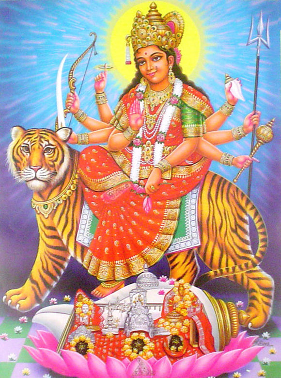Goddess durga poster-reprint on paper-(20x16 inches)