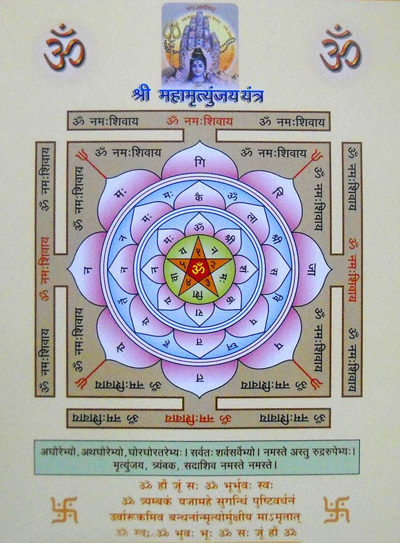 Shri Mahamrityunjay Yantra poster-reprint on paper-(20x16 inches)