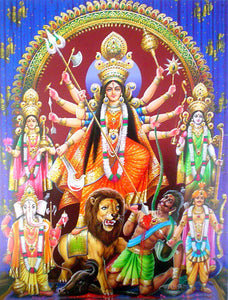India Crafts Goddess Durga Poster-Reprint on Paper-(20x16 inches)