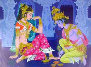Radha krishna poster-reprint on paper-(20x16 inches)