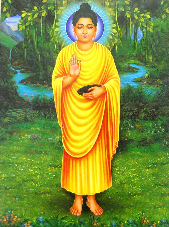 Blessing Lord Buddha poster-reprint on paper-(20x16 inches)