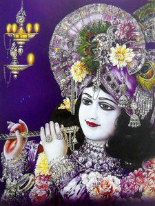 Lord Krishna poster-reprint on paper-(20x16 inches)
