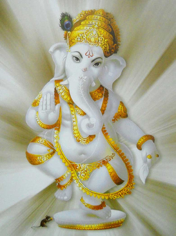 Blessing Ganesha poster-reprint on paper-(20x16 inches)