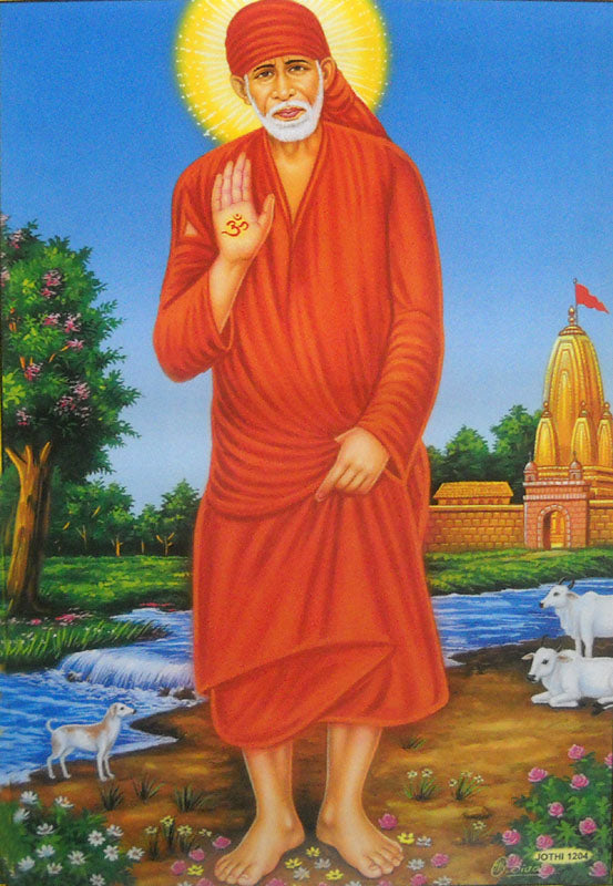 Shirdi Sai Baba/Hindu God Big Poster -Reprint on Paper (Unframed : Size 21