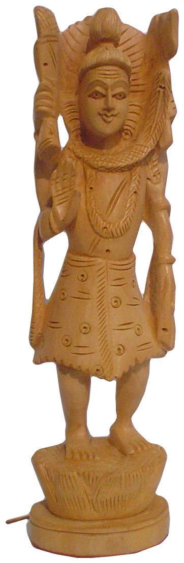 Crafts of India : Lord Shiva Wooden Statue