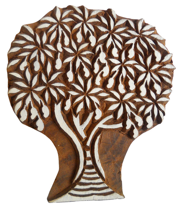 Tree Design Wooden Printing Block/Stamp Textile Fabric Printing Apparel India
