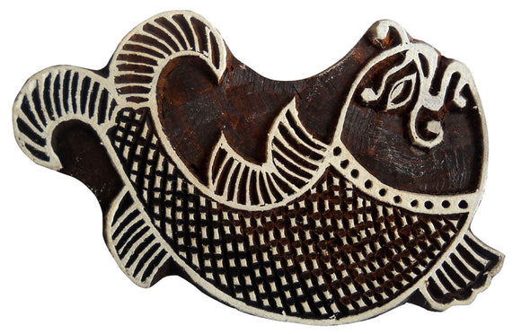 Fish Design Wooden Printing Block/Stamp Textile Fabric Printing