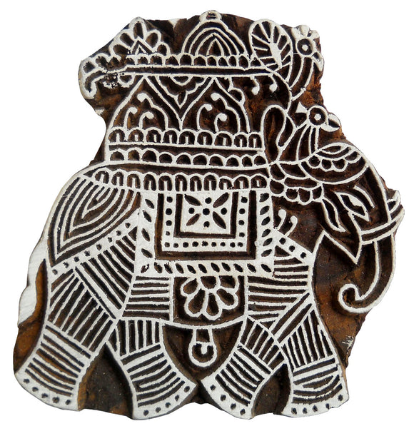 Royal Elephant Design Wooden Printing Block /Stamp Textile Fabric Printing