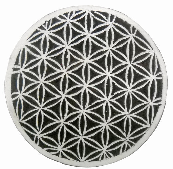 Round Floral design wooden block stamp/ Tattoo/Circle design Indian Textile Printing Block