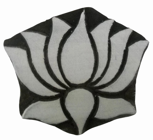 Lotus Design Wooden Block Stamp/Tattoo/Kamal Design Indian Textile Printing Block