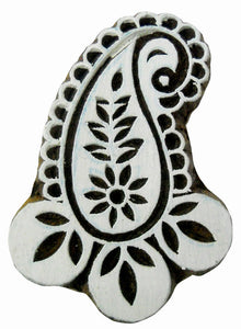 Paisley design wooden block stamp/ Tattoo/ Indian Textile Printing Block