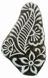 Floral Paisley design wooden block stamp/ Tattoo/ Indian Textile Printing Block