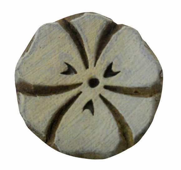 Round floral design wooden block stamp/ Tattoo/ Indian Textile Printing Block