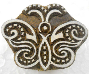 Butterfly design Wooden Block Stamp/ Tattoo/ Textile Printing Block