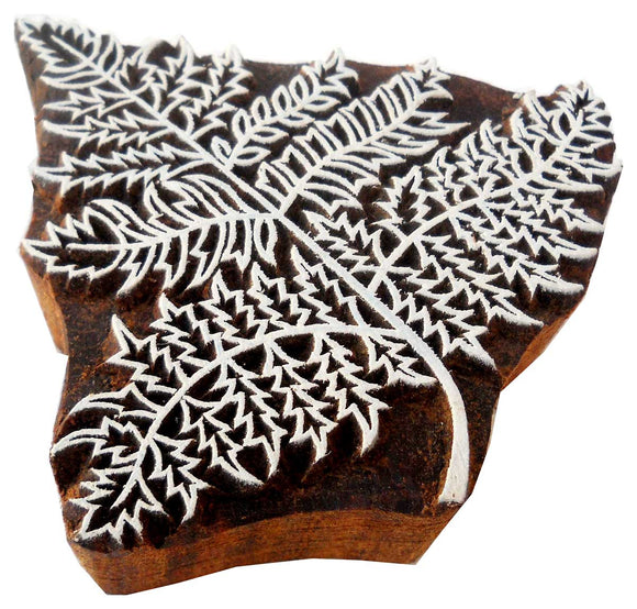 Leaves Design wooden block stamp/ Tattoo/ Indian Textile Printing Block