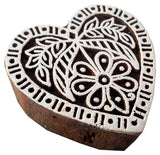 Heart Shaped wooden block stamp/ Tattoo/ Indian Textile Printing Block