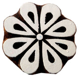 Blooming Flower wooden block stamp/ Tattoo/ Indian Textile Printing Block