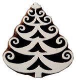 Decorated Christmas Tree wooden block stamp/ Tattoo/ Indian Textile Printing Block