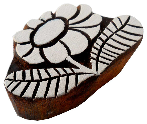 Flower Shaped wooden block stamp/ Tattoo/ Indian Textile Printing Block