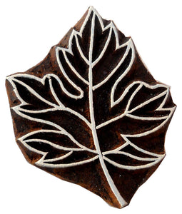 Maple Leaf wooden block stamp/ Tattoo/ Indian Textile Printing Block