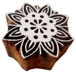 Floral Design wooden block stamp/ Tattoo/ Indian Textile Printing Block