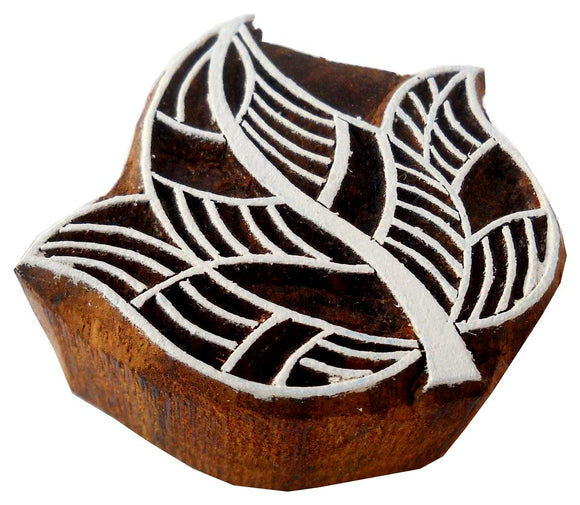 Leaf Shaped wooden block stamp/ Tattoo/ Indian Textile Printing Block
