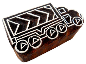 Truck Design wooden block stamp/ Tattoo/ Handcarved Indian Textile Printing Block