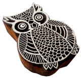 Owl Shaped wooden block stamp/ Tattoo/ Indian Textile Printing Block