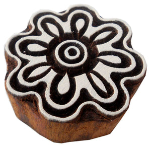 Exotic Flower Design wooden block stamp/ Tattoo/ Indian Textile Printing Block