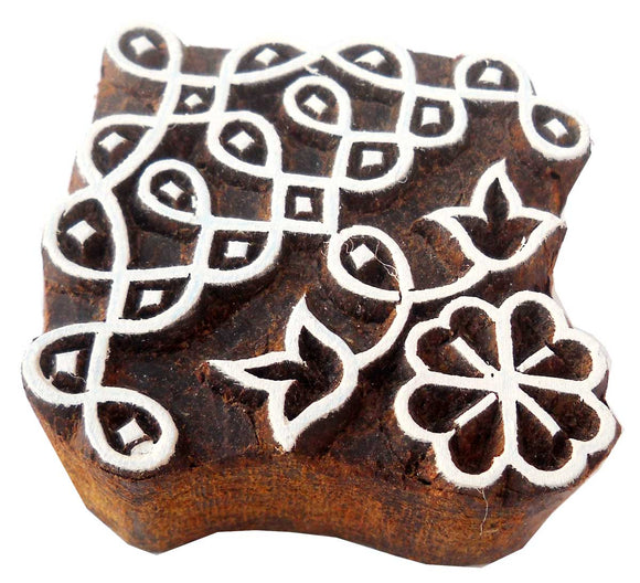 Classic Rangoli wooden block stamp/ Tattoo/ Indian Textile Printing Block