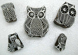 Family of Owls/ Tattoo/ Handcarved Indian Textile Printing Blocks